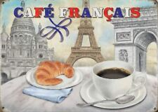 New 15x20cm Cafe Francais, French Coffee metal advertising wall sign