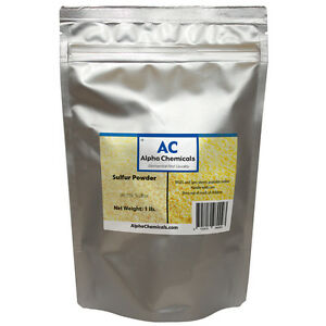 1 Pound - Sulfur - 99.5% Pure - Powder
