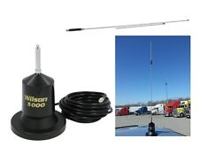 "Wilson 5000 Magnet Mount CB Radio Antenna 880-200152B 62.5"" & 36"" short Whip"