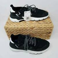 Adidas Mens Nite Jogger Shoes Black White EE6254 Low Top Lace Up Breathable 11