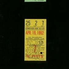 4-19-1962 Pittsburgh Pirates @ Philadelphia Phillies Ticket Bill Mazeroski HR