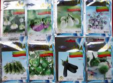 8 packs of round eggplants seeds ,mixed thai  seed