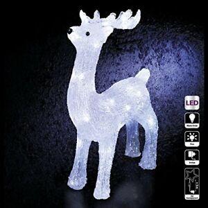 Decorazione natalizia - Renna luminosa - Effetto brina - 40 lampadine LED (t6s)