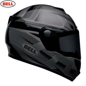 Bell SRT Blackout Matt/Gloss Black FIBREGLASS FULL FACE DARK AND CLEAR VISORS