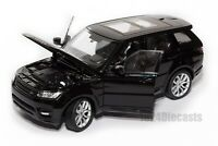 Range Rover Sport Black, Welly 24059, scale 1:24, model car adult boy gift