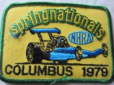 Nhra 1979 Springnationals Columbus Ohio Drag Racing Event Patch