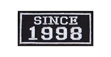SINCE 1998 Biker Patches Aufnäher Jahr MC Motorrad Rocker Kutte Club Seit Zahl