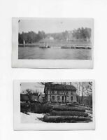 2 Vintage Real Photo Postcards of WALTON NY ** RPPCs  ** Pettis Art Store