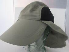 COLUMBIA PFG Fishing HAT Sun Shade Neck Ear Cover UPF 30+ Green UNISEX A18