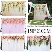 5X7FT Romantic Photo Screen Backdrop Flower Wedding Photography Background Vinyl