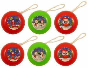 12 Mini Pocket Christmas Yo-Yos - Pinata Toy Loot/Party Bag Fillers Children/Kid