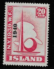 Iceland Scott #232, Single 1940 FVF MH
