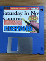 CU Amiga Magazine Cover Disk 62 Interword TESTED WORKING