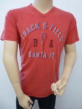 Cotton Blend V Neck Patternless Graphic T-Shirts for Men
