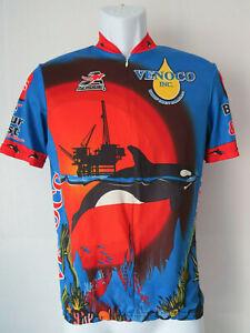 AUSSIE VENOCO CYCLING JERSEY Orca Whale Orcas Ocean Theme Red Blue bike biking
