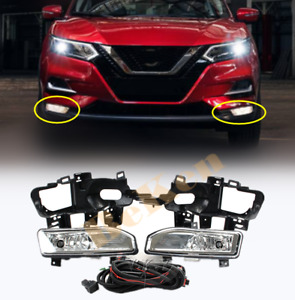For Nissan Rogue Sport QASHQAI 2019 2020+ Front fog light assembly w/Bulb Switch