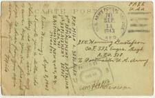 Sept 11 1943 APO 761 Oran Algeria North Africa Pfc Milo Sedlacek to APO 518