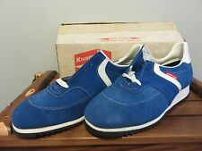 NOS Knapp Shoes Oil Resistant Sport Athletic Sneaker 10D VTG Blue Leather Vibram