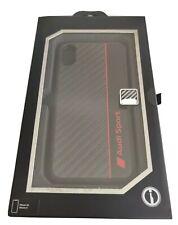 Oficial con licencia de Audi de fibra de carbono duro caso para Apple iPhone/XS X