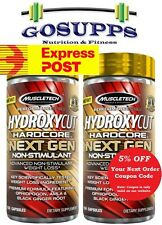 2 x MuscleTech Hydroxycut Hardcore Next Gen Non-Stimulant 150 Caps Elite EXPRESS