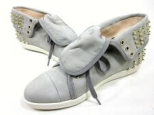 BOUTIQUE9 KATREEN SNEAKER WOMEN'S LIGHT GREY LEATHER NEW WITHOUT BOX