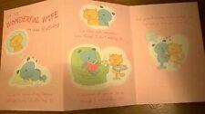 Hallmark For My Wonderful Wife Birthday Card 16 cm x 23 cm RRP £2.75