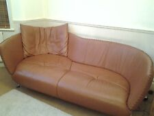 """Sensational Pristine De Sede """"DS 102/30"""" Large Sofa Chaise in Brown Leather"""