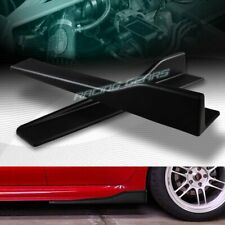 "2PC UNIVERSAL BLACK SIDE SKIRT ROCKER SPLITTERS WINGLET CANARD DIFFUSER 23.5""X4"""