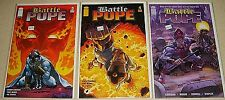 Battle Pope 3 4 5 Near Mint Run Lot Image Robert Kirkman Tony Moore Walking Dead