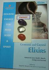 "Gemstone & Crystal élixirs - ""énergie"" - comprend 3 pierres précieuses & 2 grands livres."