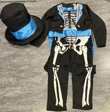 ⭐️Amazing SMIFFY'S DAY OF THE DEAD SKELETON GROOM Costume Fancy Dress AGE 4-5