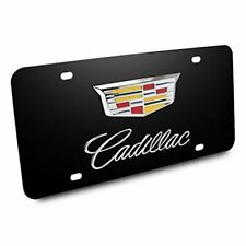 """Chrome License Plate Frame /""""Happiness is driving my cadillac/"""" Auto Accessory"""