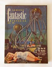 Famous Fantastic Mysteries Jul 1951 Vol.12 No.5  ~ HG Wells - War of the Worlds