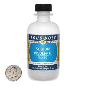 Sodium Bisulfate / 4 Ounce Bottle / 99.5% Pure Reagent Grade / Microprills / USA