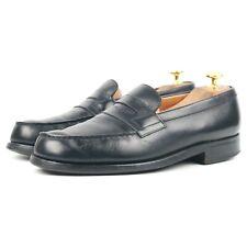 J.M. Weston Black Leather 180 Loafers Men's Shoes UK 6.5 C