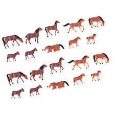 Set / 20Pcs 1:87 HO Échelle Modèle de Chevaux Peints Animal Figure