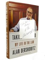 Alan Dershowitz TAKING THE STAND My Life in the Law 1st Edition 1st Printing
