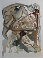 Salvador Dali: Hölle 11 - Holz Graviert Original # Göttliche Komödie #1960