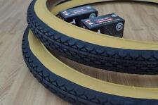 Two (2) Beach Cruiser 24x2.125 Bicycle Tires & Inner tubes Diamond Gum Wall BMX