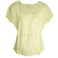 wow Sommer Pastell gelb BLUSE Ethno? Folklore Baumwolle Gr.36/38 (S/M)
