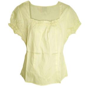 süße BLUSE pastell gelb Ethno Folklore Baumwolle Dirndl? Gr.36/38 (S/M)