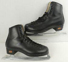 Riedell Ice Skates 110 Opal Black Mens Black Recreational Skate Set size 4