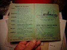Ancienne Pochette pour Billet de Croisière  Ste MISR de Navigation Maritime