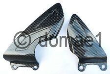carbon fiber heel plates guards Triumph Daytona 675 2006-2012