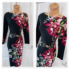 JOSEPH RIBKOFF Floral Stretchy Bodycon Dress Uk Size 10