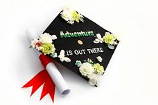 Handmade Grad Cap Decorations Cap Topper Adventure is Out There
