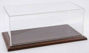 Atlantic Case Aichi 1:24 Acrylic Model Display Case W/ Mahogany Wood Base