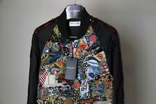 $25K SS16 Saint Laurent Paris Sequins Souvenir Bomber Jacket Hedi Slimane 44 46