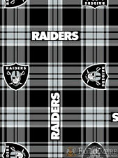 NFL Oakland Raiders Plaid Licensed Fleece Fabric NL-NFL-61-OT