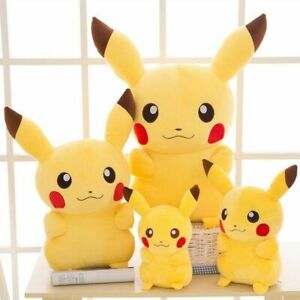 Pokemon Pikachu plush toy stuffed toy Japanese movie Pikachu,35 cm